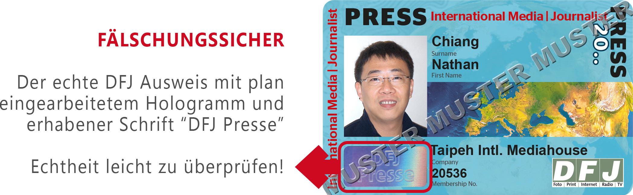 Internationaler Presseausweis erwünscht Dem DFJ beitreten